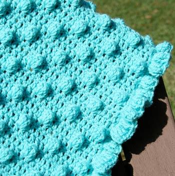 Polka Dots & Frills: Free Crochet Blanket Pattern