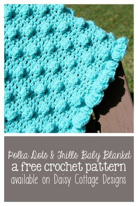 Free Crochet Bobble Stitch Afghan Patterns : Polka Dots & Frills: Free Crochet Blanket Pattern - Daisy ...