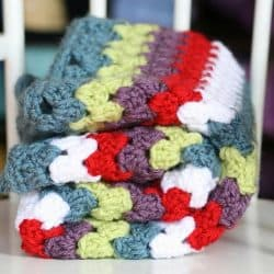 Off the Hook {Granny Stripe Baby Blanket}