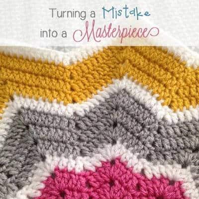 Easy Crochet Baby Blanket Gone Awry {Mistake to Masterpiece}