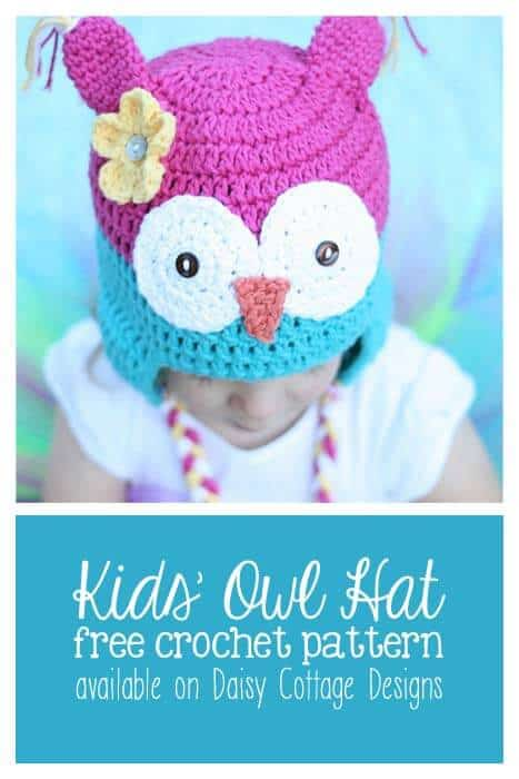 Free Owl Hat Crochet Pattern Daisy Cottage Designs Impressive Free Owl Hat Knitting Pattern
