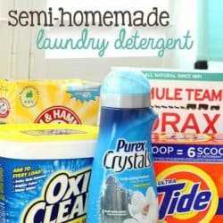 Semi-Homemade Laundry Detergent Recipe