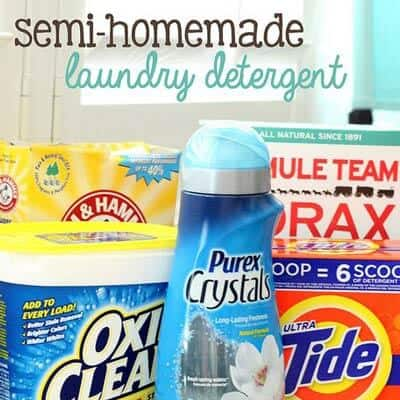Semi-Homemade Laundry Detergent Recipe