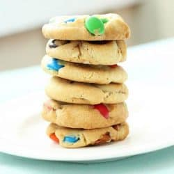 M & M and Pretzel Cookies Recipe