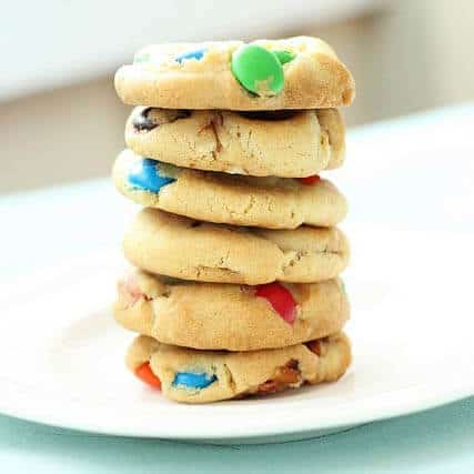 M & M and Pretzel Cookies Recipe
