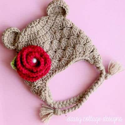 Shabby Chic Bear Hat