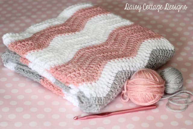 Ripple Blanket Crochet Pattern - Daisy Cottage Designs