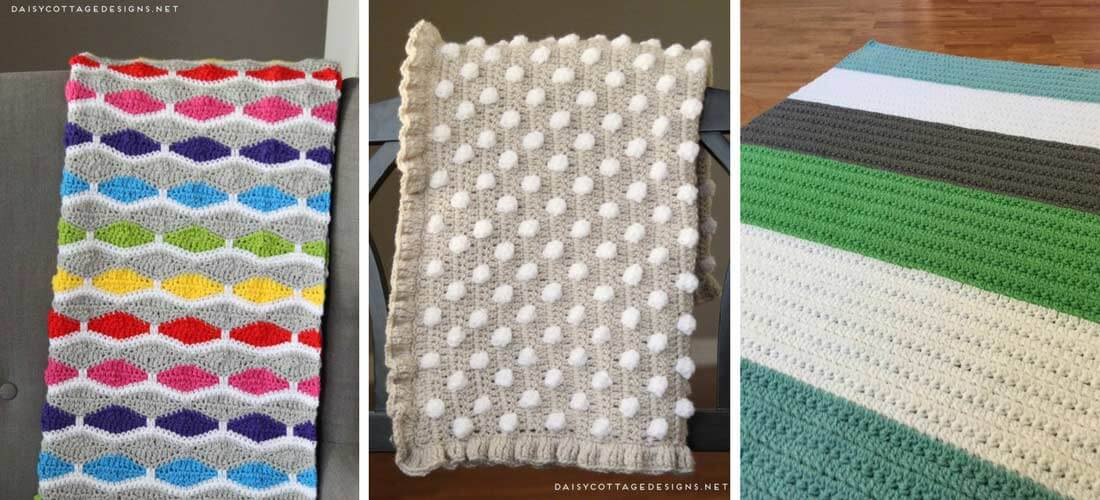 Free Crochet Patterns For Baby Blankets Cottage Design