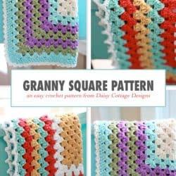 Free Crochet Patterns {Granny Square Baby Blanket}