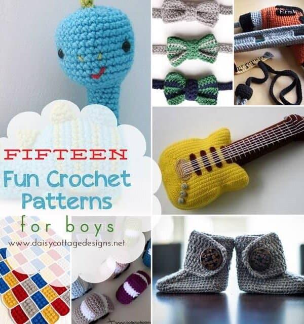 15 Crochet Patterns for Boys