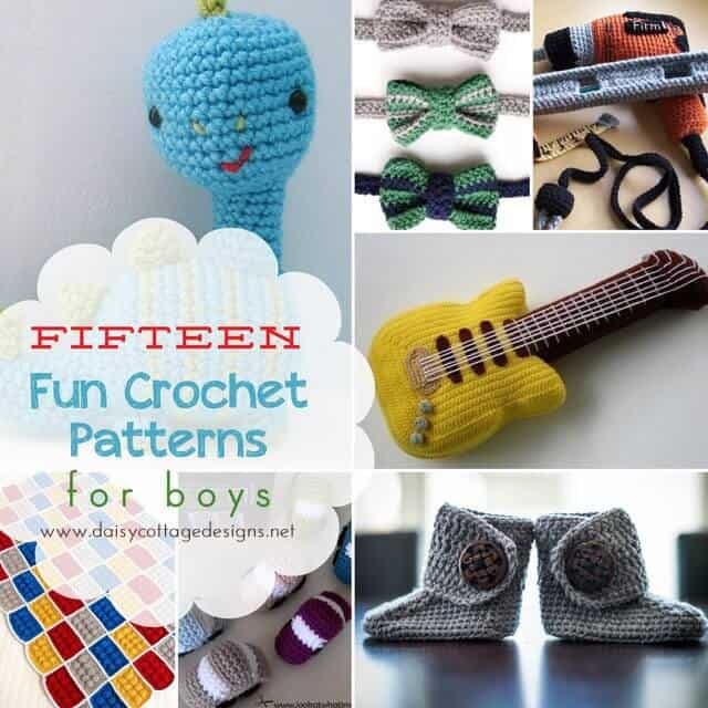 15 Crochet Patterns For Boys Daisy Cottage Designs