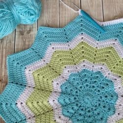 Crochet Star Baby Blanket {Work in Progress}