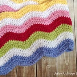 Rainbow Ripple Blanket by Daisy Cottage Designs