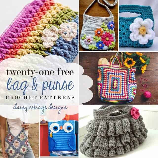 21 Free Bag Crochet Patterns Daisy Cottage Designs