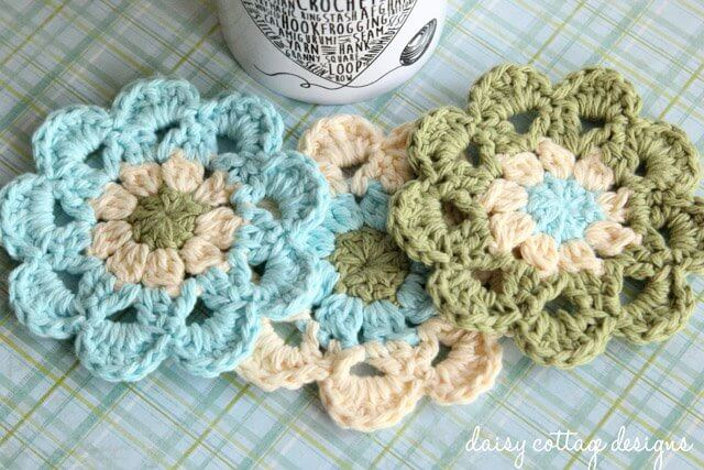 Crochet Coasters are fun to make and they don't have to be boring! Use this free crochet pattern to make some of your own!