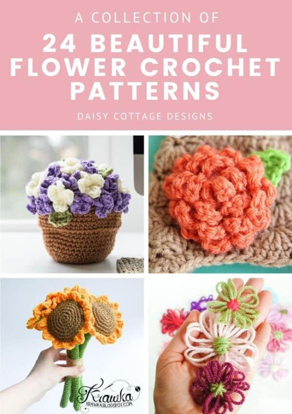 24 Beautiful Flower Crochet Patterns