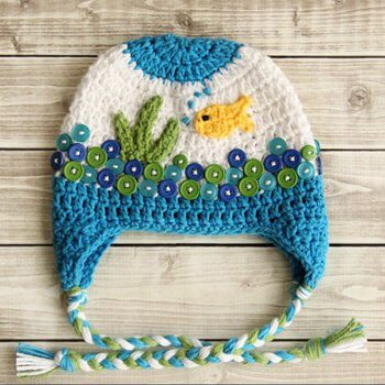 Crochet Beanie Pattern • Fishbowl Crochet Hat Pattern
