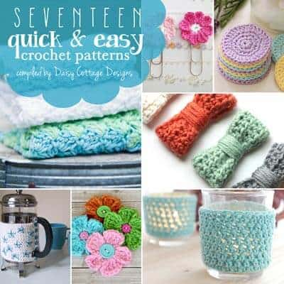 17 Quick And Easy Free Crochet Patterns Daisy Cottage Designs
