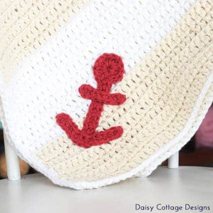 Free Crochet Pattern: Easy Nautical Baby Blanket