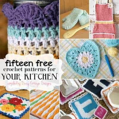 15 Free Kitchen Crochet Patterns Daisy Cottage Designs