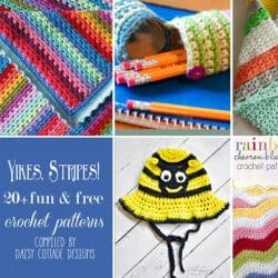 20+ Striped Crochet Patterns {Free Crochet Patterns}