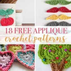 18 Applique Free Crochet Patterns
