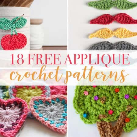 18 Crochet Applique Patterns - Daisy Cottage Designs