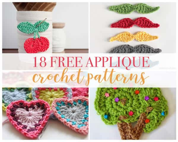 image relating to Free Printable Flower Applique Patterns referred to as 18 Crochet Applique Routines - Daisy Cottage Types