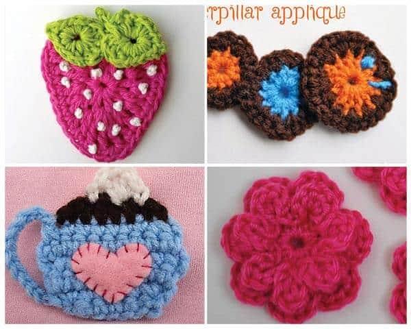 Crochet applique patterns daisy cottage designs