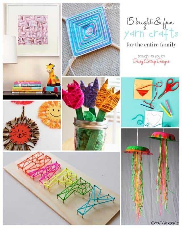 15 Yarn Crafts For Kids Adults Daisy Cottage Designs