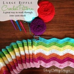 Large Ripple Afghan Crochet Pattern
