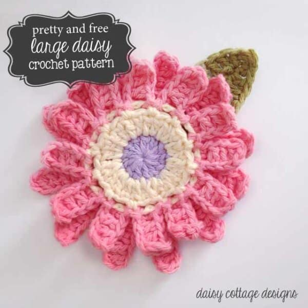 Large Flower Crochet Pattern