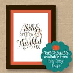 Free Fall Printable | Always Be Thankful