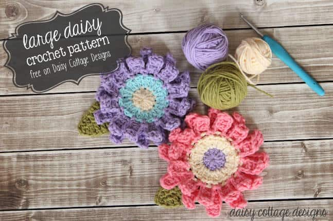 Large Flower Crochet Pattern Daisy Cottage Designs