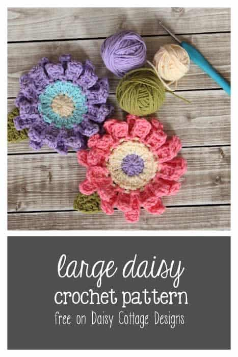 Large Flower Crochet Pattern Daisy Cottage Designs