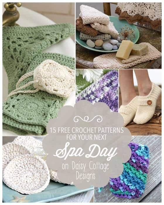 15 Free Crochet Patterns for Spa Days