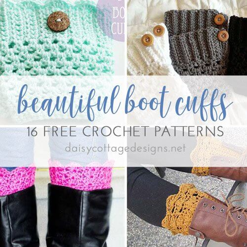 16 Free Boot Cuff Crochet Patterns
