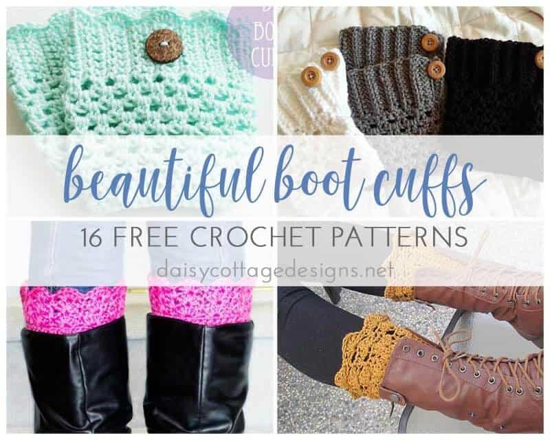 16 free boot cuff crochet patterns daisy cottage designs 16 free boot cuff crochet patterns dt1010fo