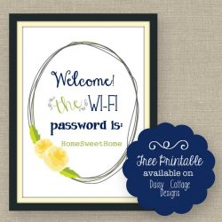 Wi-Fi Password Free Printable