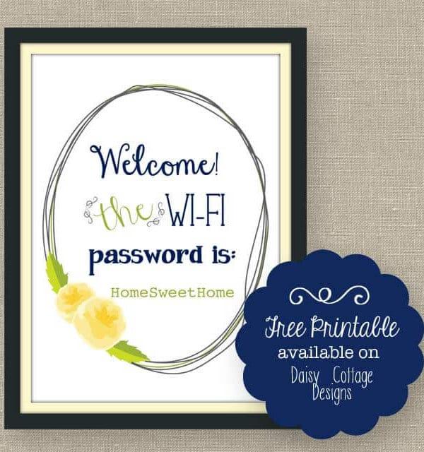 Wi-Fi Password Free Printable