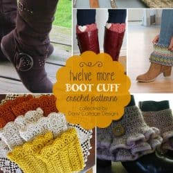 12 More Free Crochet Boot Cuff Patterns