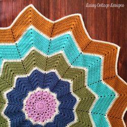 Round Ripple Baby Blanket