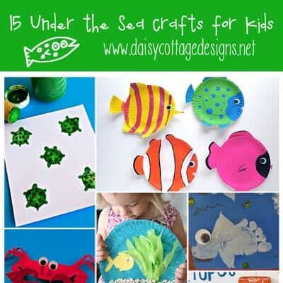 15 Under the Sea Crafts for Kids {Ocean Crafts for Kids}