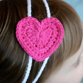 Easy Heart Headband Free Crochet Pattern