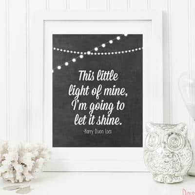 This Little Light of Mine | Free Printable