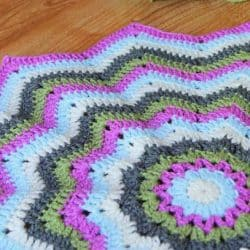 Round Ripple Baby Blanket Crochet Project