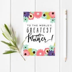 Printable Mother's Day Card & Tags