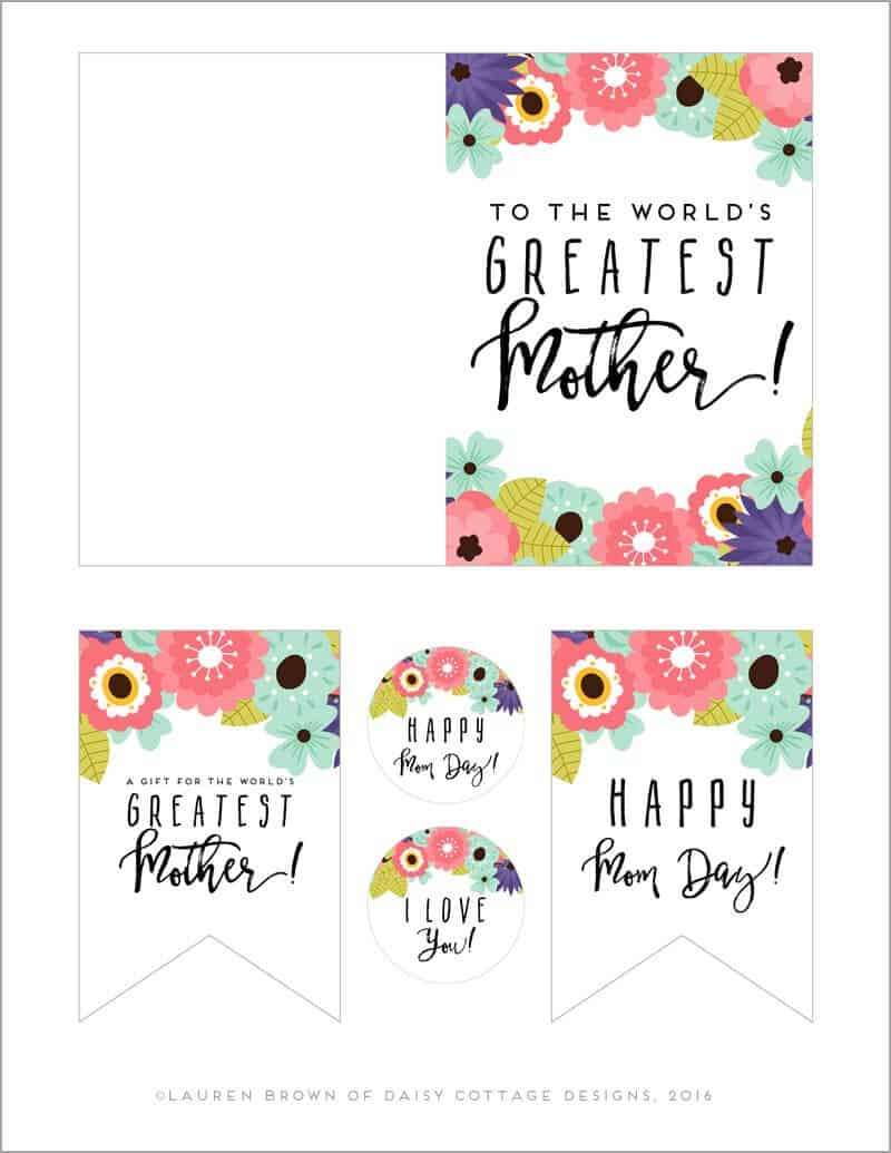 image regarding Mother's Day Tags Printable identified as Printable Moms Working day Card Tags - Daisy Cottage Types