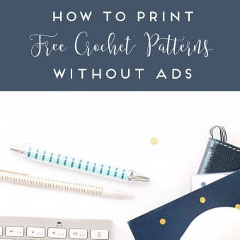 How to Print Any Crochet Pattern: A Video Tutorial