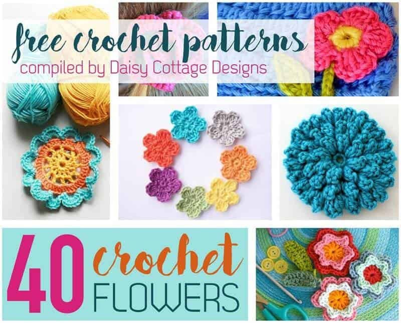 Crochet flower pattern collection from daisy cottage designs dt1010fo
